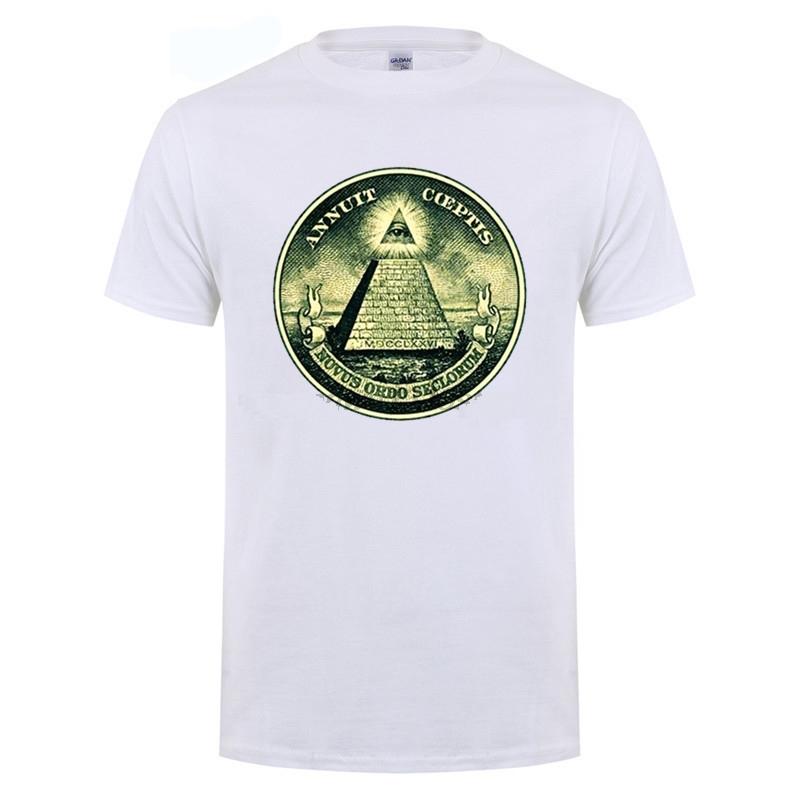 dd8d412de illuminati All Seeing Eye Pyramid Dollar T-Shirt - King of Cocaine