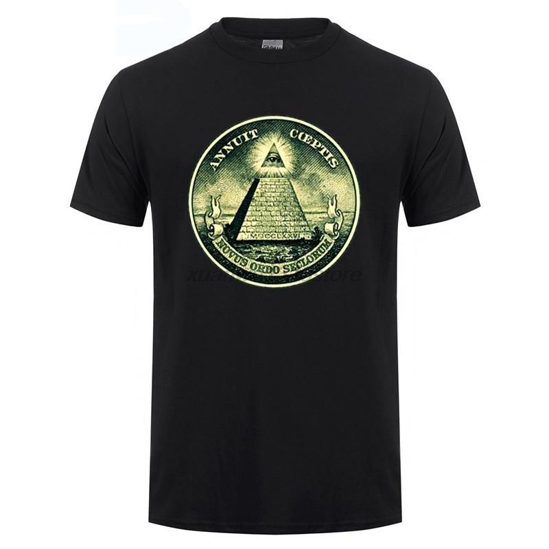 Illuminati All Seeing Eye Pyramid Dollar T Shirt