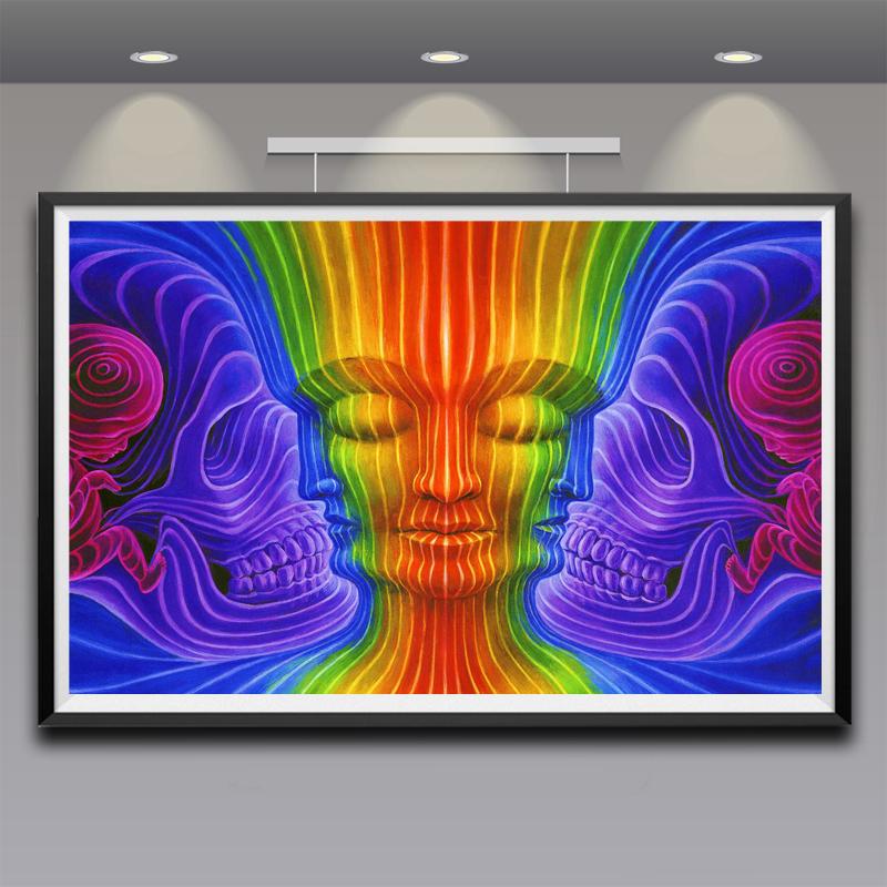 Alex Grey Art Silk Fabric Psychedelic Poster