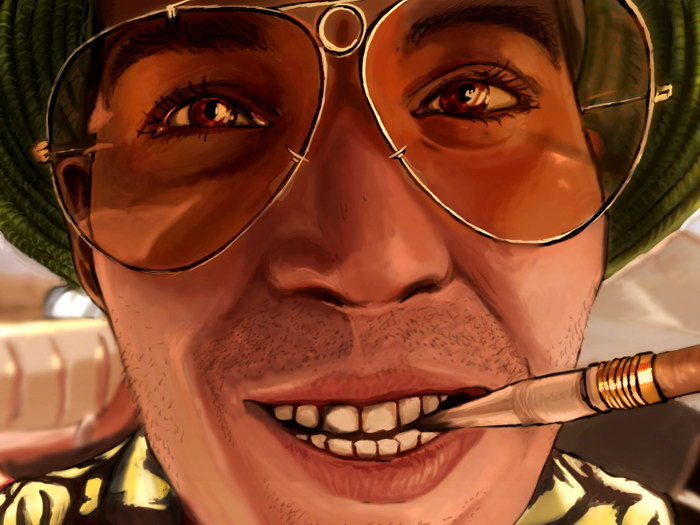 0a181d0b35b1 Fear And Loathing In Las Vegas Close Face-Print Silk Art Wall Poster ...