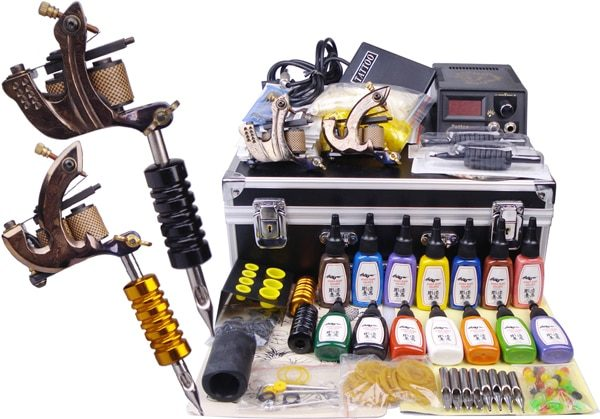 Tattoo Kit Top Quality Permanent Makeup Tattoo Machine Set Body Art  Professional Tattoo Kits YLT-33 Tattoo Supplies