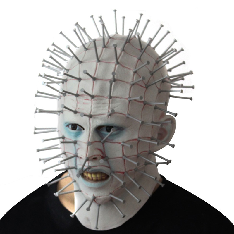 Halloween Masker.Halloween Masker Horror Movie Hellraiser Scary Pinhead
