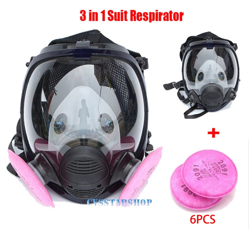 Industry Painting Spraying Respirator Same For 6800 Gas Mask Full Face Facepiece Respirator