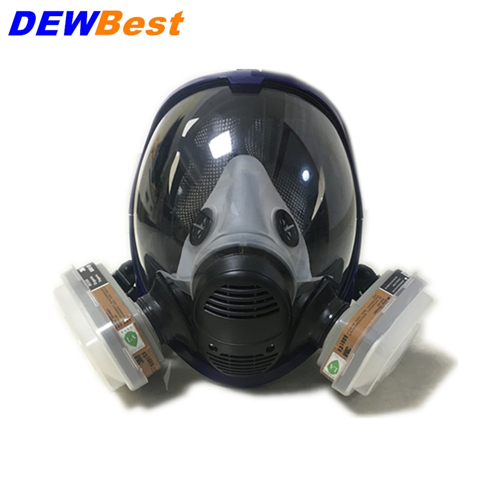 For 6800 Silicone Gas Mask Full Face Facepiece Respirator Painting Spraying Mask Festive & Party Supplies