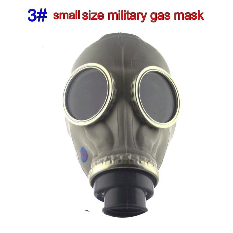 All rubber respirator gas mask