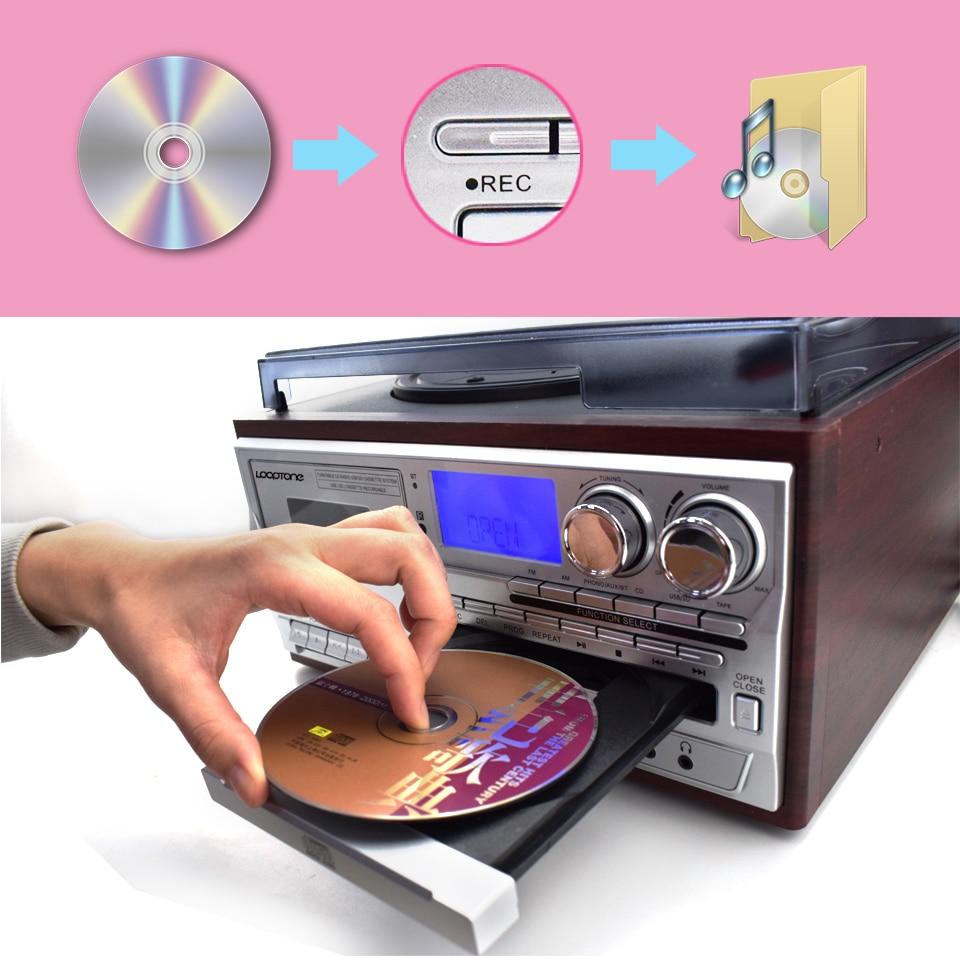 Looptone Bluetooth Turntable Player 3 Speed Vinyl Record