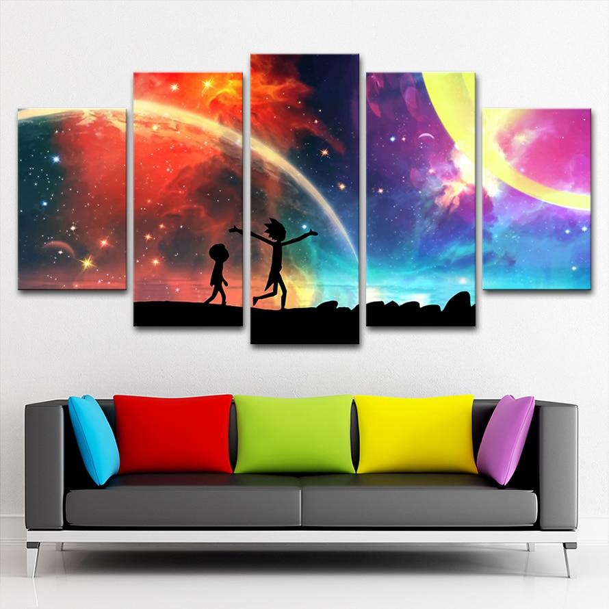 . Rick And Morty Wall Art Modern Home Decor For Living Room Artwork   Framed    0x60 40x80 40x100cm