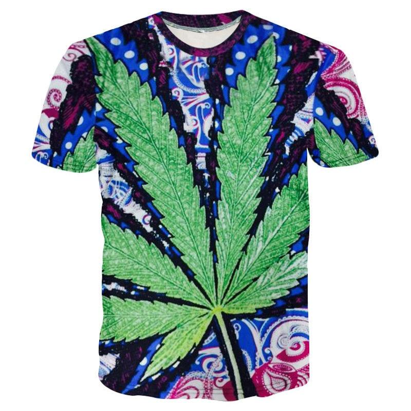 psychedelic hemp leaf – XS-3XL