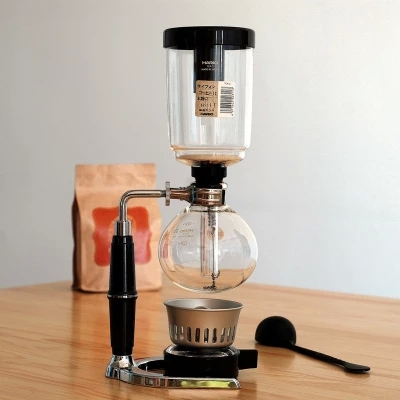 Siphon coffee maker Tea Siphon pot vacuum coffeemaker glass type coffee machine filter 5cup
