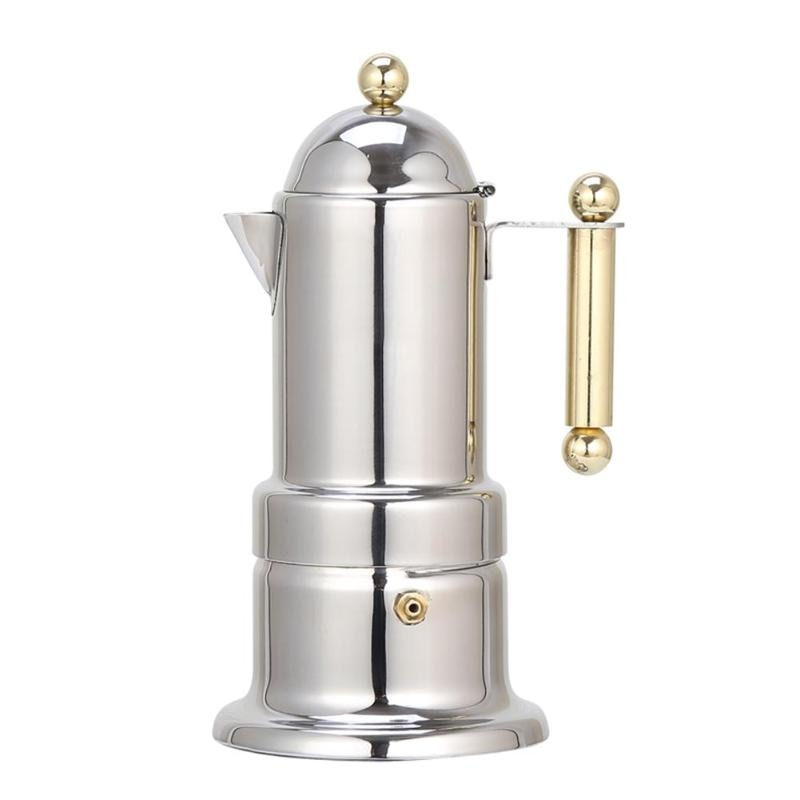 200ml 4 Cups Stainless Steel Coffee Pot Moka Coffee Maker Cafetera Teapot Filter Automatic Coffee Machine Espresso Machine