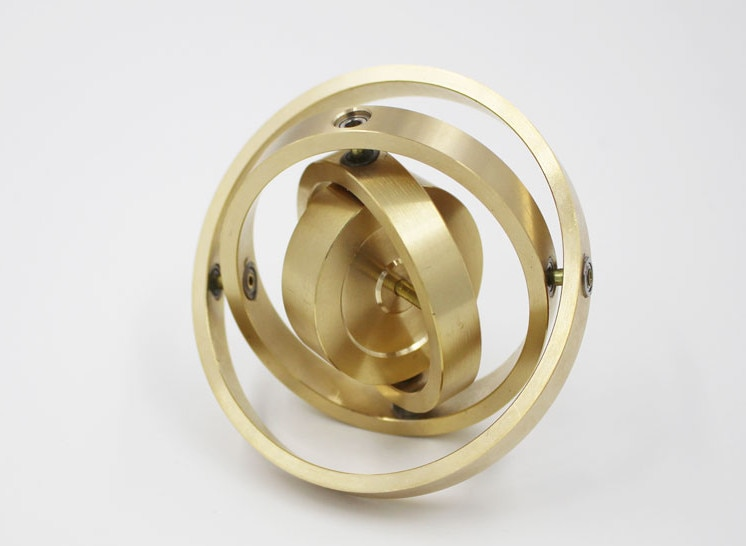 High quality Classic copper metal gyroscope
