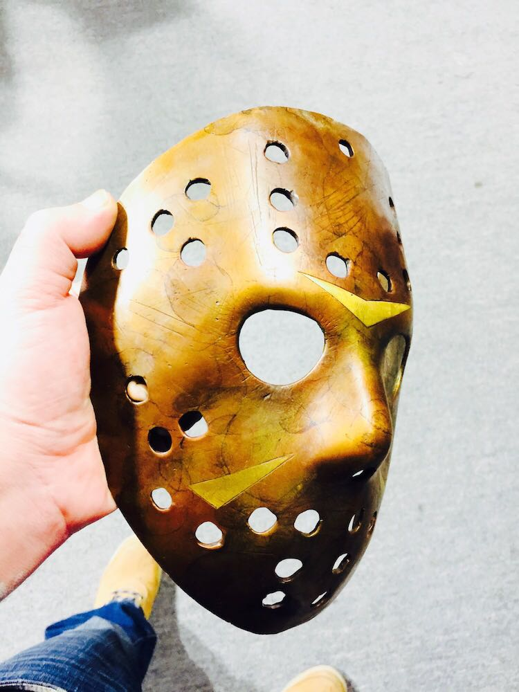 Jason Voorhees Mask Bronze Halloween Mask
