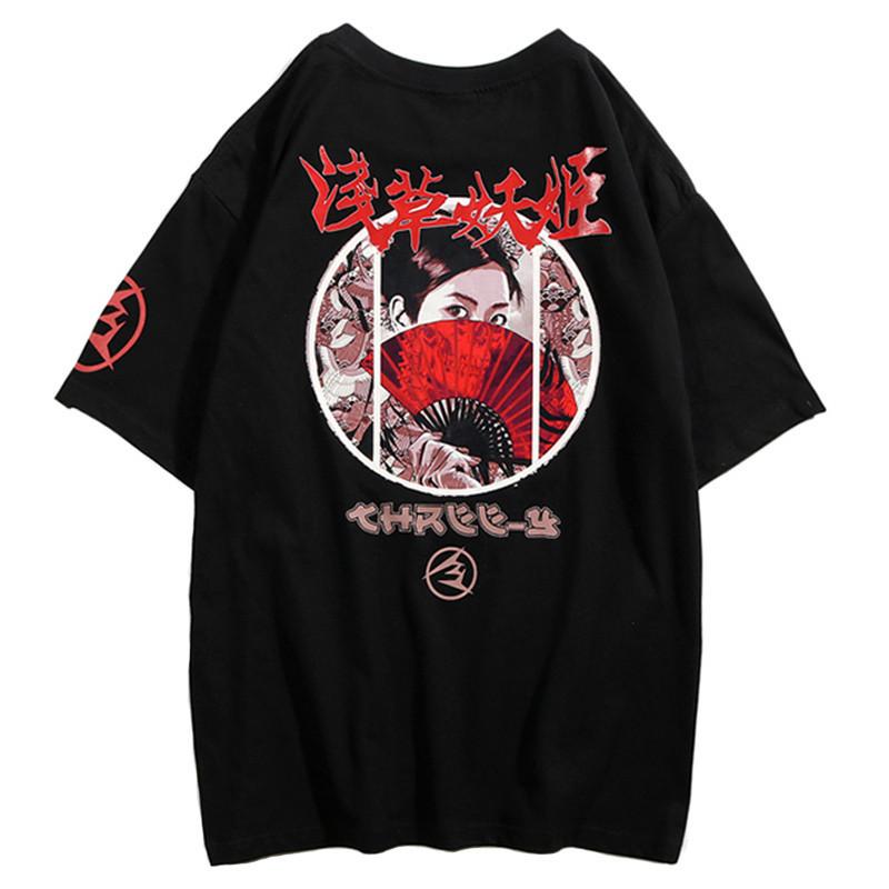 Japanese Streetwear Killer Geisha T Shirt