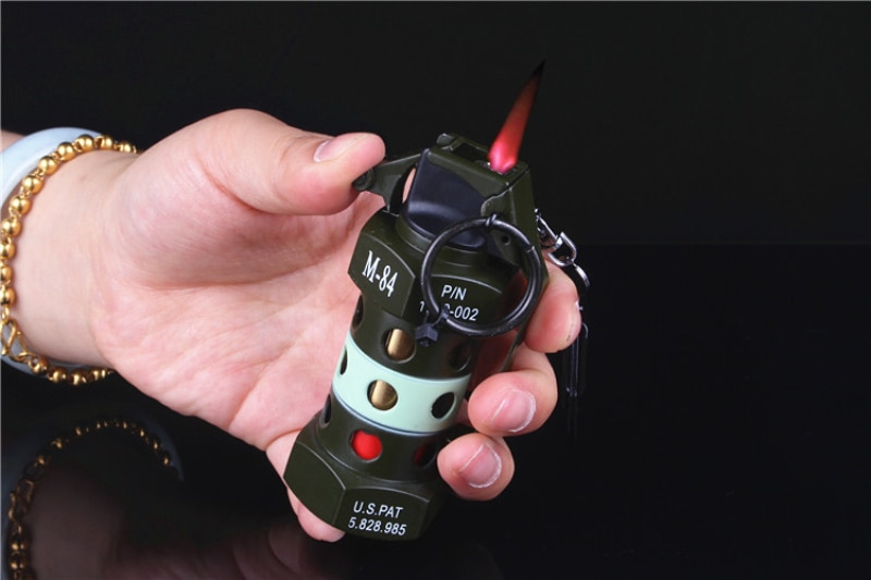 Metal Windproof Military style Hand Grenades Refillable Cigarette Lighter