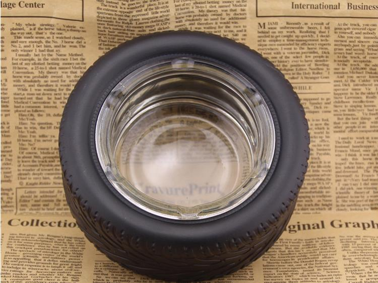 Durable Rubber Tire Ashtray