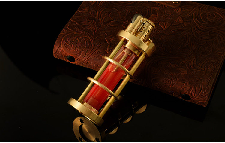 High-end handmade heavy four pure copper kerosene lighter