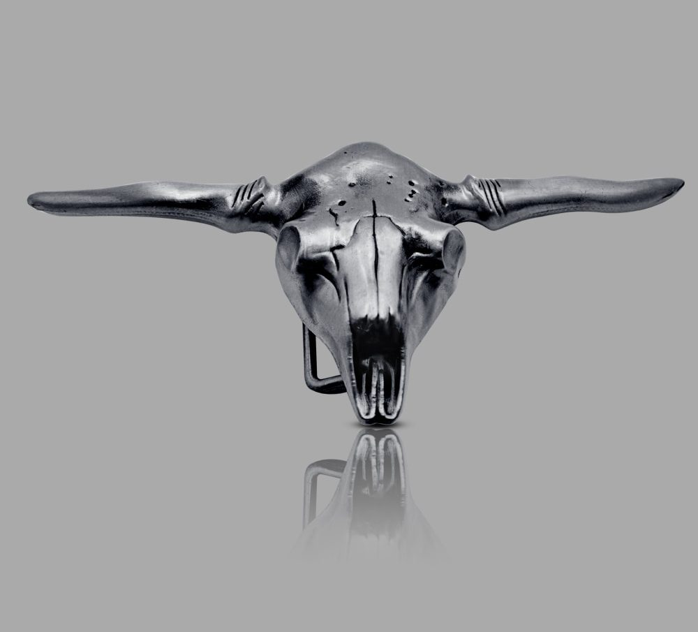 Bull Head Skull Belt Buckle Metal Western Buckles For Men