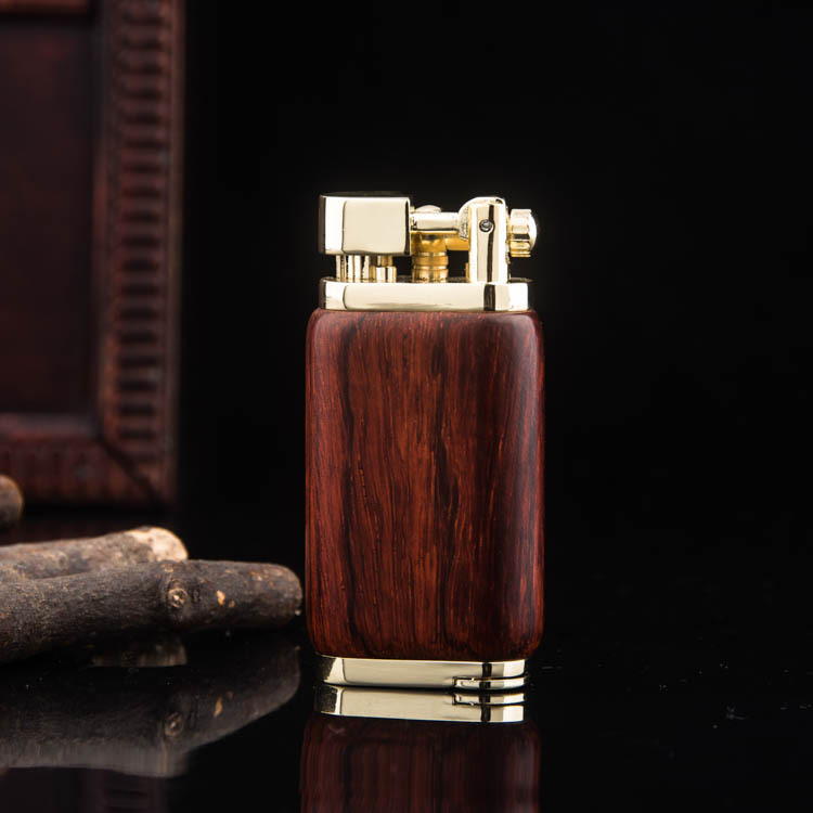 Red Wood Brass Lighter – Butane