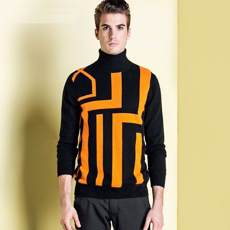 High Quality Winter Warm 100% Cashmere Sweater Mens