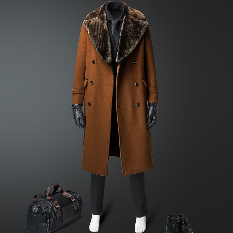 Winter High-end Long Trench Coat Wool