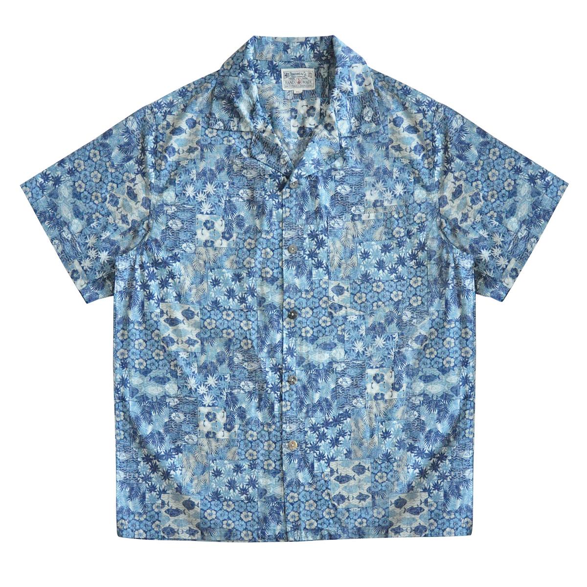 Sauce Zhan Mens Hawaiian Shirt Men's Casual Shirt Japanese Fabric Printed Beach Men's Short Sleeve Shirt