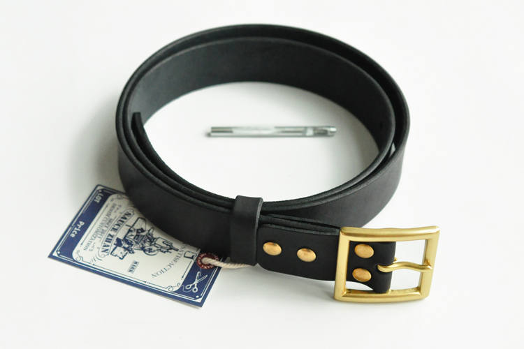 Italian Leather Belt with 4MM Brass Buckle for Men