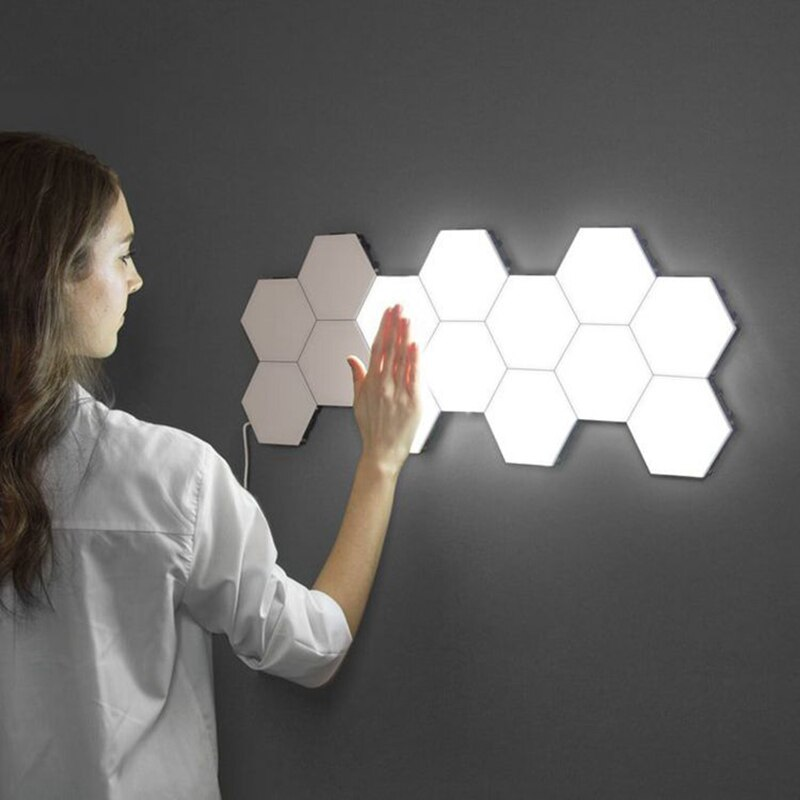 Modern Quantum Lamp Touch Sensitive Lighting LED Night Light Magnetic Hexagon Lamp 30 PCS
