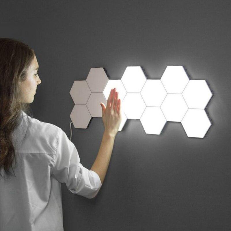 Modern Quantum Lamp Touch Sensitive Lighting LED Night Light Magnetic Hexagon Lamp 30 PCS